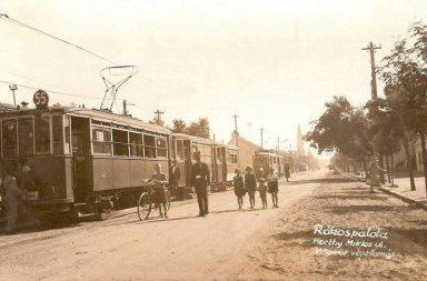 Villamos végállomás - Horthy Miklós út (ma Fő út)